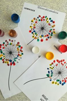 Thumbprint Dandelion Kid Craft w/free printable template Craft Activities For Kids, Preschool Crafts, Easter Crafts, Diy Crafts For Kids, Projects For Kids, Fun Crafts, Arts And Crafts, Art Projects, Diy Niños Manualidades