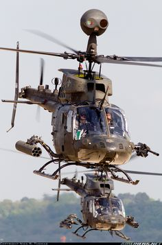 Here comes the Cavalry. US Army Bell OH-58D Kiowa Warrior
