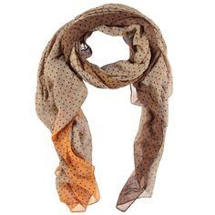 Beige gestipte sjaal van modal