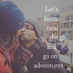 """He leaned over and whispered, """"What is it that you really want out of this life.""""  The words fell out of my mouth before I had time to think about it, """"I want to learn new things and go on adventures.""""  """"Ah,"""" he said. """"What the hell are we doing here then? Let's go.""""   #adventure"""