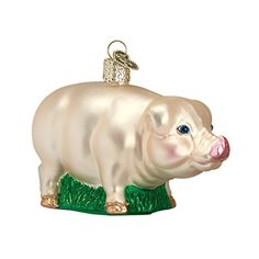 Old World Christmas Big Pig Glass Blown Ornament Old Worl…