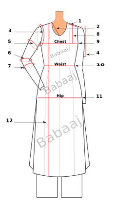 How to Take Measurements For Custom Kameez