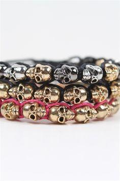 Skulls Friendship Bracelet $10