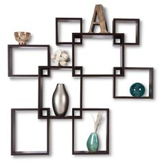 Cube Display Wooden Wall Shelf Design Hang On The Wall