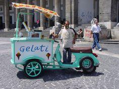 Vespa conversion  photographed in Naples