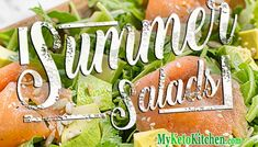 Keto Salad Recipes - Very Healthy, Low Carb for Summer, Winter Anytime! Low Carb Chicken Salad, Salad Recipes Low Carb, Free Keto Recipes, Keto Chicken, Ketogenic Recipes, Lunch Recipes, Chicken Meatball Recipes, Chicken Drumstick Recipes, Shredded Chicken Recipes