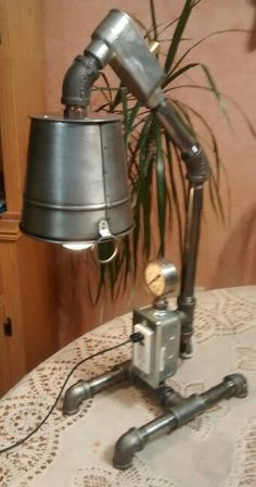 43 trendy ideas for diy desk lamp shade work spaces Pipe Lighting, Unique Lighting, Industrial Lighting, Industrial Pipe, Industrial Electric, Usb Lamp, Lamp Bulb, Diy Pipe, Iron Pipe