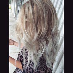 Blonde/silver ombré