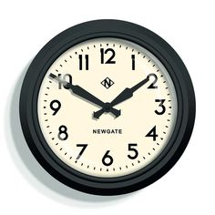 Buy the Electric Clock - Matt Black - White Dial from Newgate Clocks at AMARA. Electric Station, Electric Clock, Wall Clock Design, Vintage Theme, Vintage Style, Traditional Decor, Mid Century Style, Metal Walls, Contemporary Design