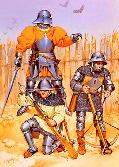 Danish troops at the Battle of Brnkenberg, 10 October 1471