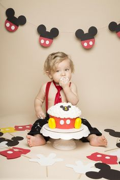 Let your little child attack their birthday treat with a baby cake smash photoshoot.