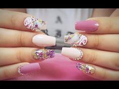 3d, Nails, Beauty, Youtube, Glue On Nails, Nailed It, Cute Nails, Hue, French Tips