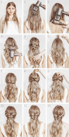 52 Easy Hairstyles Step by Step DIY hairstyles boho 62 Easy Hairstyles Ste… - All For Simple Hair Medium Hair Styles, Curly Hair Styles, Hair Styles For Long Hair For School, Prom Hair Styles, Curly Hair Dos, Long Hair Dos, Prom Hair Medium, Curly Ponytail, Curly Girl
