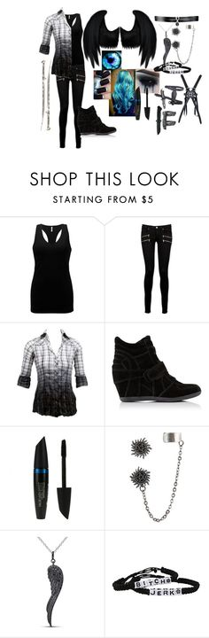 """""""outfit #33 (eyeless)"""" by eyeless-angel-of-death ❤ liked on Polyvore featuring BKE, Paige Denim, Ash, Dickies, bleu, Max Factor, Miadora, Fallon and INC International Concepts"""
