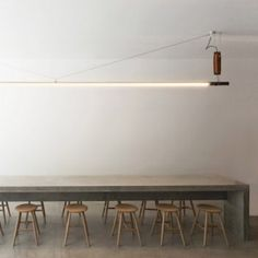 Torafuku restaurant by Scott & Scott features utilitarian interior designed to get better with age Arch Interior, Home Interior, Interior Design, Concrete Table, Concrete Furniture, Shelving Design, Modern Asian, Dining Room Inspiration, Restaurant Design