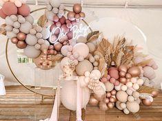 Rose Gold Balloons, Blue Balloons, Wedding Balloons, Birthday Balloons, Garland Wedding, Diy Wedding, Wedding Decoration, Wedding Balloon Decorations, Latex Balloons