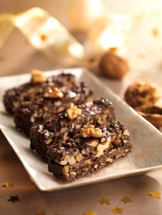 #Turrón de #chocolate con galletas y #nueces #cookies #walnuts