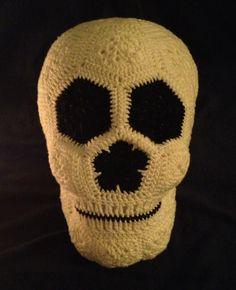 Crochet Lucy the African Flower Skull pattern on Raverly for $5.99 USD.  #crochet #pattern #skull