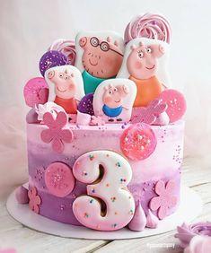 Bolo Da Peppa Pig, Cake Ideas, Minnie Mouse, Birthday Cake, Party Ideas, Desserts, Pastries, Peppa Pig Cakes, Bebe