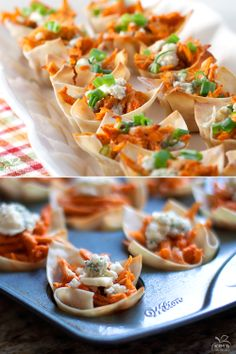 Buffalo Chicken Cups  #appetizers #gameday