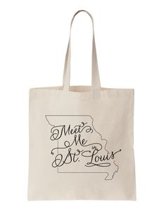 St. Louis MO Wedding Welcome Tote Bag by BRIGHTIDEASbyRachael