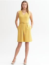Belted ponte sheath.  this dress has pockets!