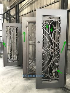 Before packing, our experienced merchandiser would double check the details carefully, to make sure all detail treatment is perfect, merchandiser would mark the position need improvements(as the arrows show), then workers would final improve the doors.