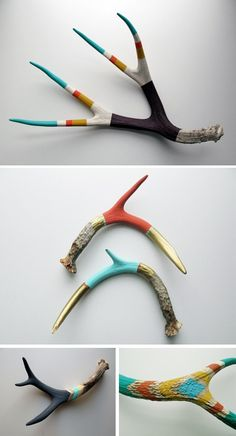 painted antlers by Cassandra Smith