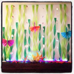 under the sea birthday | Under the Sea mantle decorations. | Under the Sea birthday party