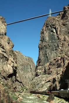 Royal Gorge Suspension Bridge in Colorado..not to go on the bridge again, that was terrifying!