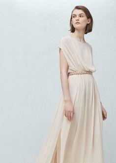 Długa lejąca sukienka | MANGO