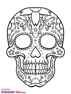 Day Of The Dead Skull Coloring Sheets free printable day of the dead coloring pages skull Day Of The Dead Skull Coloring Sheets. Here is Day Of The Dead Skull Coloring Sheets for you. Day Of The Dead Skull Coloring Sheets pin heather keenan. Skull Candy Tattoo, Candy Skulls, Sugar Skull Tattoos, Sugar Skull Art, Sugar Skulls, Adult Coloring Pages, Coloring Pages To Print, Free Printable Coloring Pages, Colouring Pages