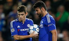 Diego Costa and his Chelsea team-mate Oscar had to be separated after exchanging robust tackles in training