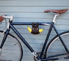 Banana Holder For Your Bicycle - http://www.gadgets-magazine.com/banana-holder-bicycle/