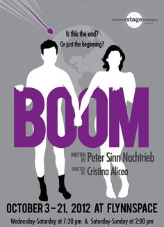 Boom, written by Peter Sinn Nachtrieb, is being presented at Vermont Stage Company