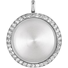 Origami Owl Large Silver Solid Twist Living Locket Base + Face with Swarovski Crystals