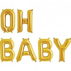 Gold 'OH BABY' Balloon Banner