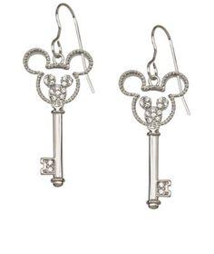 Mickey Mouse Icon Key Earrings by Arribas