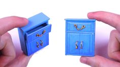 DIY Miniature Dollhouse Cabinet - How to Make Miniature Dollhouse Things