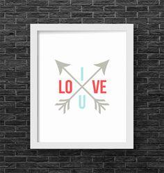 Inglish Digi Design   Valentine Printable Art, Love Wall Art, Valentine's Day Wall Art, Love Arrow Poster, Festive Home Decor, 8x10 - INSTANT DOWNLOAD by inglishdigidesign on Etsy