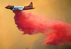 Wildland Fire   AIR TANKER this is quite something to see