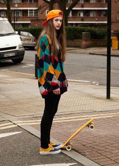 Skateboarding girl Fashion