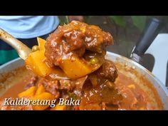 """KALDERETANG BAKA"" lutong probinsya | Batangas style - YouTube Beef Caldereta, Halo Halo, Batangas, Pinoy Food, Chicken Wings, Beef Recipes, The Creator, Foods, Meat"