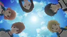 Futaba, Yuuri, Murao, Kou, and Kominato ~Ao Haru Ride Miraculous, Manga Art, Manga Anime, Futaba Y Kou, Ao Haru Ride Kou, Tanaka Kou, Best Romance Anime, Blue Springs Ride, Anime Shows