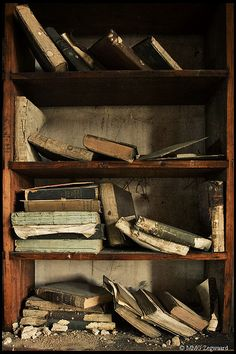 ...abandoned books, St. Joseph's Seminary, United Kingdom...