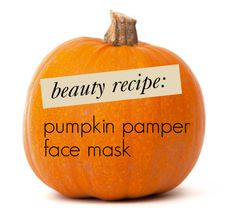 Fall #DIY beauty: Pumpkin Pamper Face Mask, with only four ingredients - a must-try!