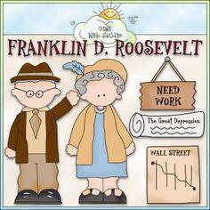 Franklin D. Roosevelt 1 - NE Cheryl Seslar Clip Art : Digi Web Studio, Clip Art, Printable Crafts & Digital Scrapbooking!