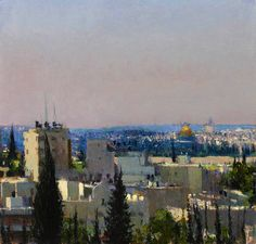 Andrew Gifford - Jerusalem from the Mount of Olives study