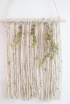 Wall Hangings Etsy small yarn wall hanging | yarn macrame | bohemian wall decor