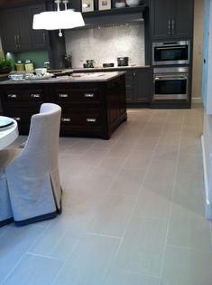 2012 DC Design House Kitchen Floor Tile and backsplash provided by Architectural Ceramics.